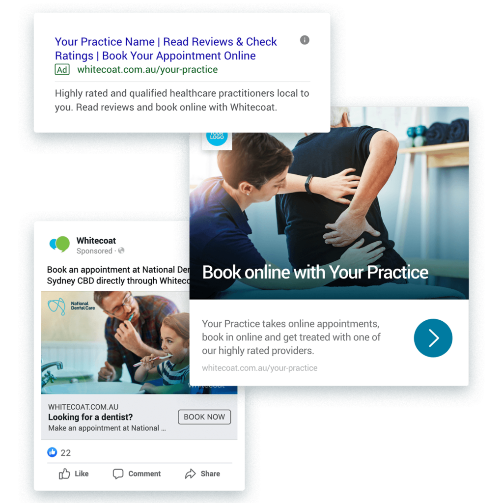 Google Ads, Facebook Ads example